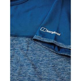 Berghaus Voyager Tech Sous-vêtement manches courtes à col ras-du-cou Femme, galaxy blue marl/galaxy blue